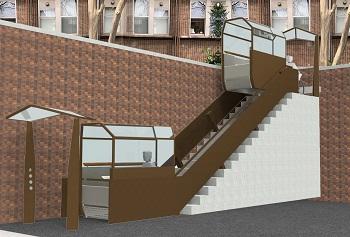 階段昇降機完成イメージ