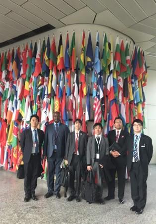 海外インターンシップの派遣先である国際連合工業開発機関(UNIDO)にて