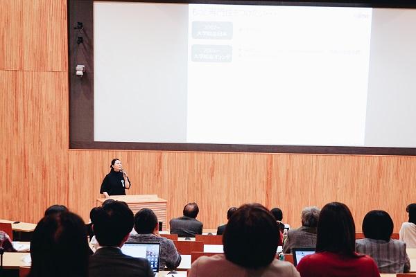 写真:講演する永野さん